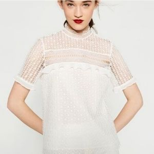 Alythea Lace White Crochet Top